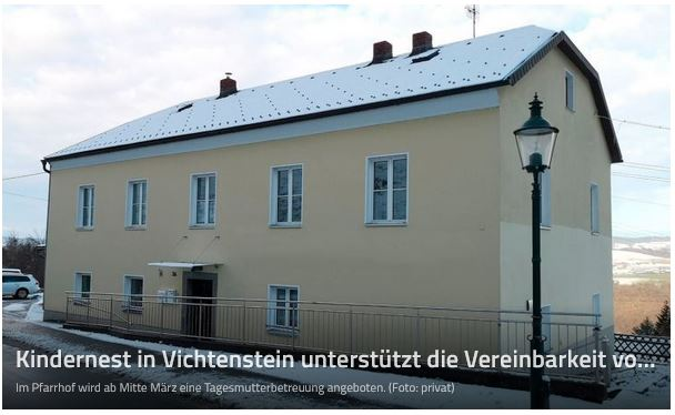 Gemeinde Vichtenstein plant eine Tagesmutterbetreuung.
