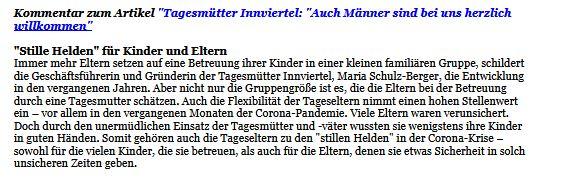 """Tagesmütter und -väter sind """"Stille Helden""""."""