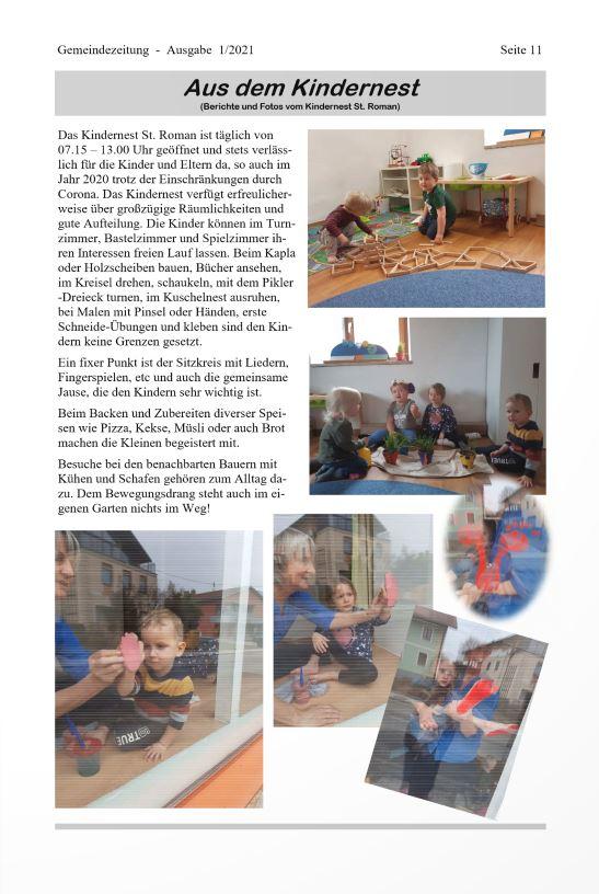 Einblick in das Kindernest von St. Roman.